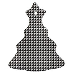 Triangulate Black And White Ornament (christmas Tree)  by jumpercat