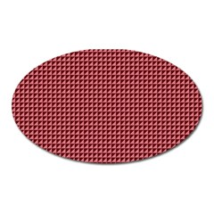 Red Triangulate Oval Magnet by jumpercat