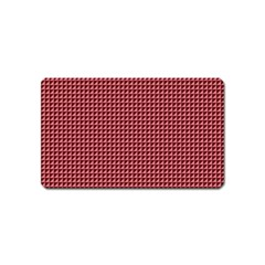 Red Triangulate Magnet (name Card) by jumpercat