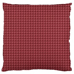 Red Triangulate Standard Flano Cushion Case (one Side) by jumpercat