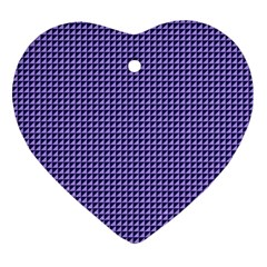 Purple Triangulate Ornament (heart)
