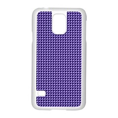 Purple Triangulate Samsung Galaxy S5 Case (white)