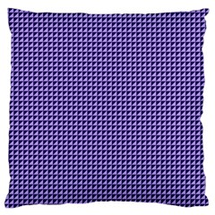 Purple Triangulate Large Flano Cushion Case (one Side) by jumpercat