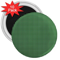 Green Triangulate 3  Magnets (10 Pack)  by jumpercat