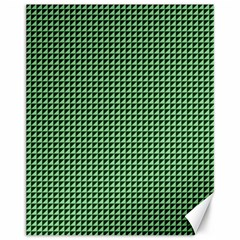 Green Triangulate Canvas 11  X 14   by jumpercat