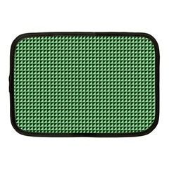Green Triangulate Netbook Case (medium)  by jumpercat
