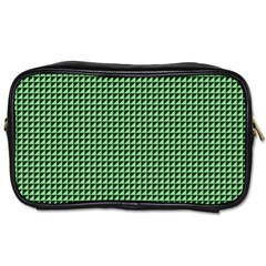 Green Triangulate Toiletries Bags by jumpercat