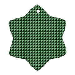 Green Triangulate Ornament (snowflake) by jumpercat