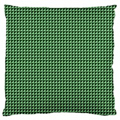 Green Triangulate Large Cushion Case (one Side) by jumpercat
