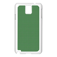 Green Triangulate Samsung Galaxy Note 3 N9005 Case (white) by jumpercat
