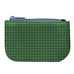 Green Triangulate Large Coin Purse