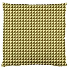 Ocre Triangulate Large Flano Cushion Case (two Sides) by jumpercat