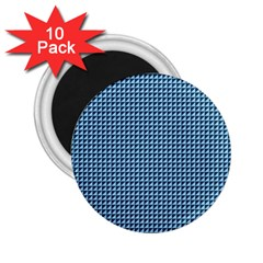 Blue Triangulate 2 25  Magnets (10 Pack)