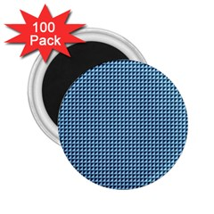 Blue Triangulate 2 25  Magnets (100 Pack)  by jumpercat