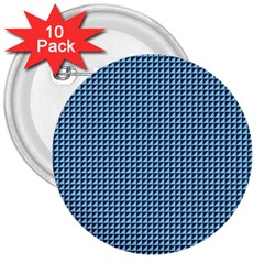 Blue Triangulate 3  Buttons (10 Pack)  by jumpercat