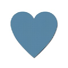 Blue Triangulate Heart Magnet by jumpercat
