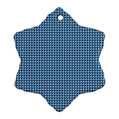 Blue Triangulate Ornament (snowflake) by jumpercat
