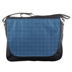 Blue Triangulate Messenger Bags by jumpercat