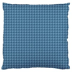 Blue Triangulate Large Flano Cushion Case (two Sides) by jumpercat