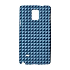 Blue Triangulate Samsung Galaxy Note 4 Hardshell Case by jumpercat