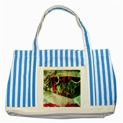 Hidden Strings Of Purity 13 Striped Blue Tote Bag