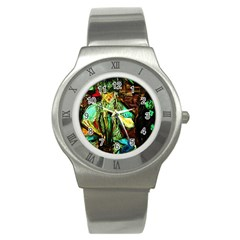 Girl In A Bar Stainless Steel Watch