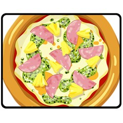Pizza Clip Art Fleece Blanket (medium)  by Sapixe