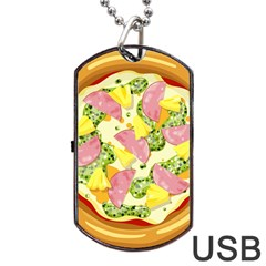Pizza Clip Art Dog Tag Usb Flash (two Sides) by Sapixe