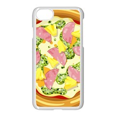 Pizza Clip Art Apple Iphone 7 Seamless Case (white) by Sapixe