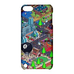 Pixel Art City Apple Ipod Touch 5 Hardshell Case With Stand by Sapixe