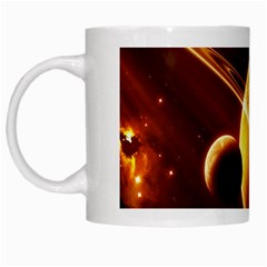 Planets Space White Mugs