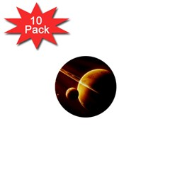 Planets Space 1  Mini Buttons (10 Pack)