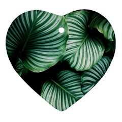 Tropical Florals Heart Ornament (two Sides)