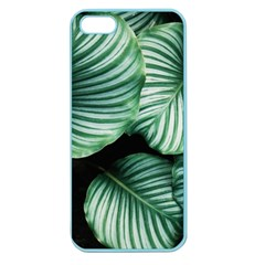 Tropical Florals Apple Seamless Iphone 5 Case (color) by goljakoff