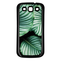 Tropical Florals Samsung Galaxy S3 Back Case (black) by goljakoff