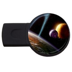 Planets In Space Usb Flash Drive Round (4 Gb) by Sapixe