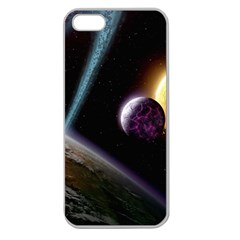 Planets In Space Apple Seamless Iphone 5 Case (clear)