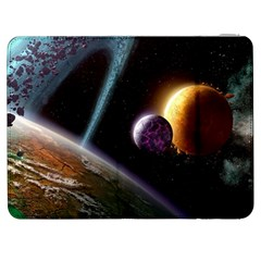 Planets In Space Samsung Galaxy Tab 7  P1000 Flip Case by Sapixe