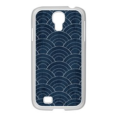 Japan Sashiko Navy Ornament Samsung Galaxy S4 I9500/ I9505 Case (white)