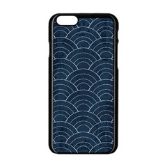 Japan Sashiko Navy Ornament Apple Iphone 6/6s Black Enamel Case by goljakoff