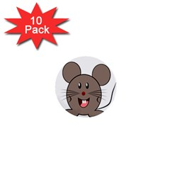 Raton Mouse Christmas Xmas Stuffed Animal 1  Mini Buttons (10 Pack)  by Sapixe