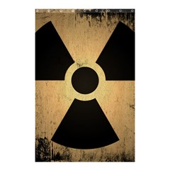 Radioactive Warning Signs Hazard Shower Curtain 48  X 72  (small)  by Sapixe