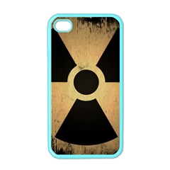 Radioactive Warning Signs Hazard Apple Iphone 4 Case (color) by Sapixe