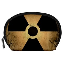 Radioactive Warning Signs Hazard Accessory Pouches (large)  by Sapixe
