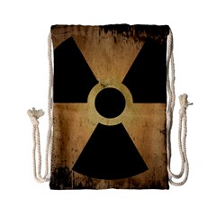 Radioactive Warning Signs Hazard Drawstring Bag (small)