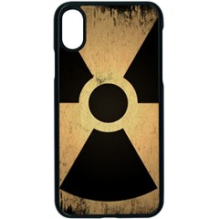 Radioactive Warning Signs Hazard Apple Iphone X Seamless Case (black)
