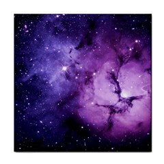 Purple Space Tile Coasters