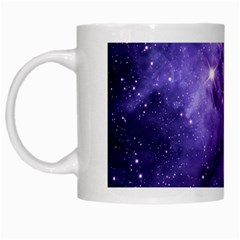 Purple Space White Mugs
