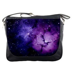 Purple Space Messenger Bags