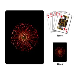 Red Flower Blooming In The Dark Playing Card by Sapixe